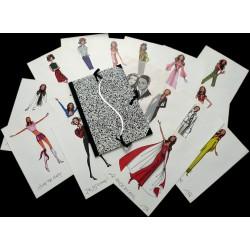 15 lithographies et 1 calque dans carton à dessin siglé