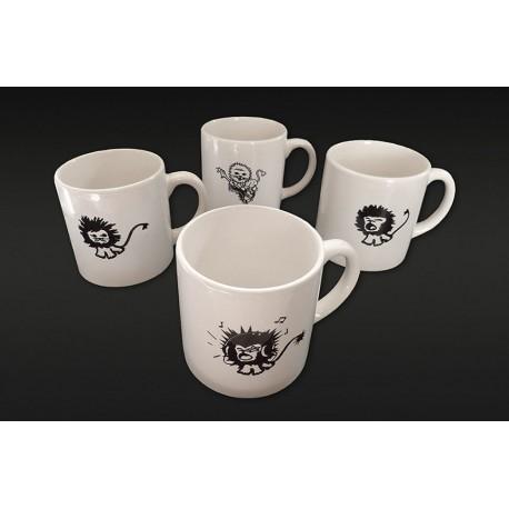 """Minis Mugs Collection """"lions"""" (lot de 4)"""