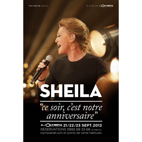 Affiche Sheila Olympia 2012 petit format