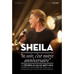 Affiche Sheila Olympia 2012 grand format