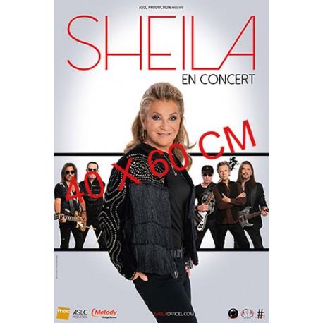 Affiche Sheila en concert (5 musiciens) 40X60 cm