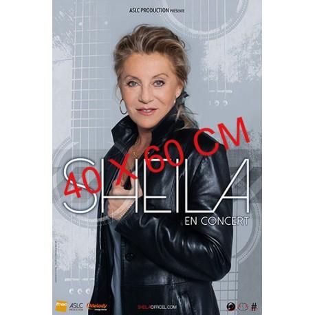 Affiche Sheila en concert (3 musiciens) 40X60 cm
