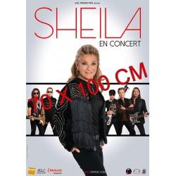 Affiche Sheila en concert (5 musiciens) 70X100 cm
