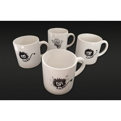 "Minis Mugs Collection ""lions"" (lot de 4)"
